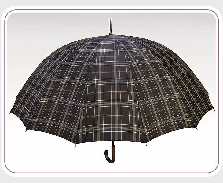 Зонт ТКМ001 клетка желто-серая мелкая