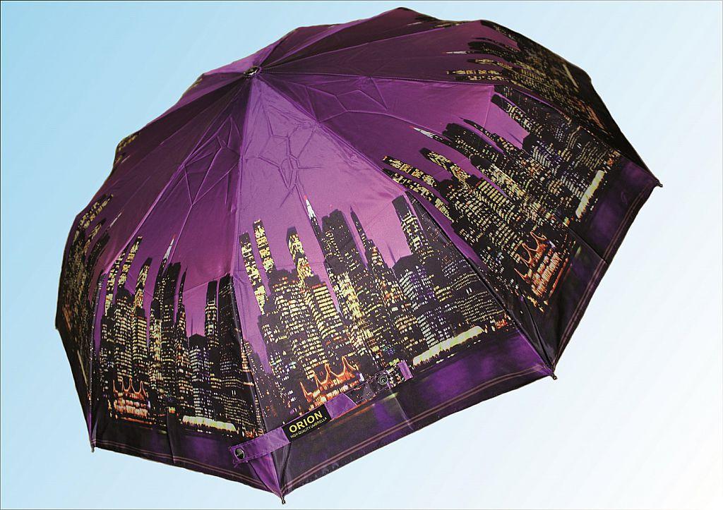 Зонт С1002 фиолетовый город